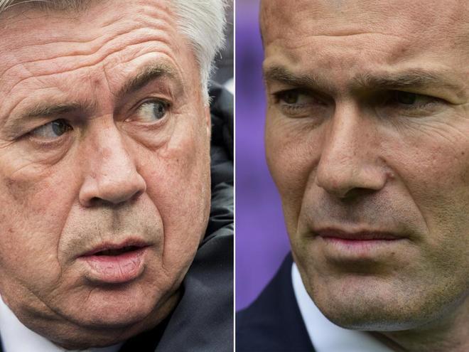Ancelotti y Zidane.