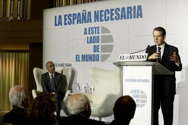 Abel Caballero, durante su intervención en el Foro de EL MUNDO.