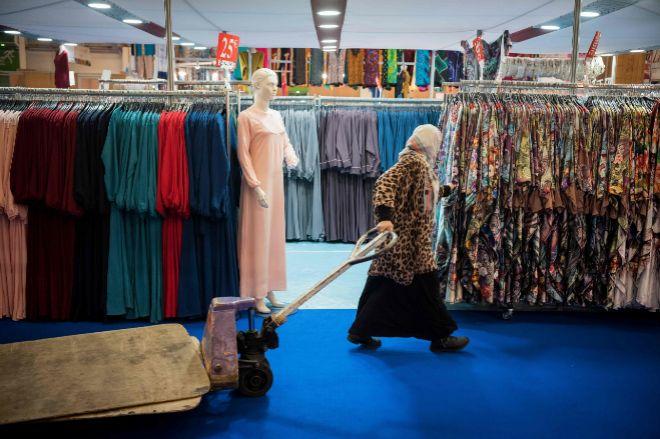 Vista del Centro de Exposiciones de Le Bourget (París) donde se celebra la Reunión Anual de Musulmanes.
