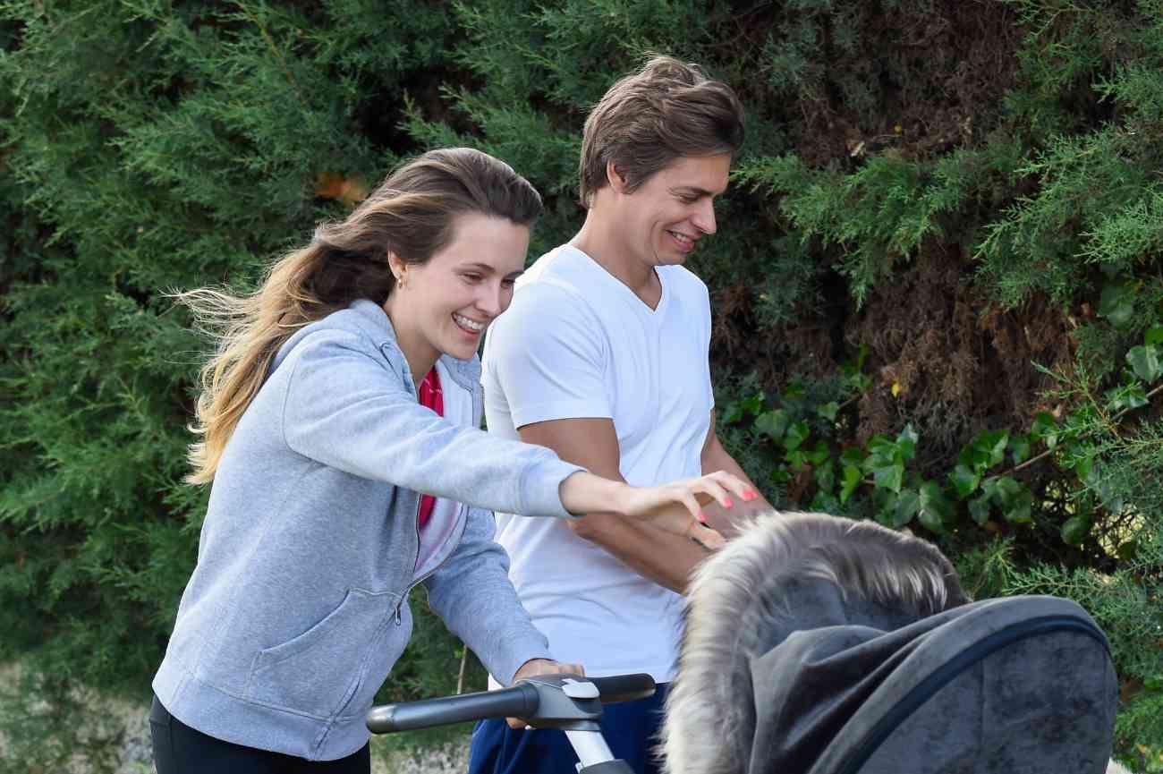 El cantante Carlos Baute (43) y su mujer, Astrid Klisans (32),...