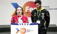 La nadadora paralímpica Ariadna Edo, y el atleta Jorge Ureña intervienen en la presentación de la Fundación Trinidad Alfonso de la quinta edición del Proyecto Fer.