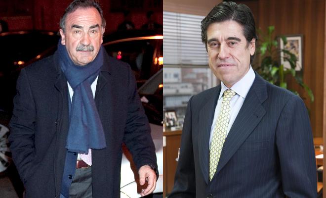 Blas Herrero, presidente de Kiss FM (izquierda); Manuel Manrique, presidente de la compañía Sacyr (derecha).
