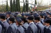 Decenas de militares del Ejército del Aire, en un acto celebrado en...