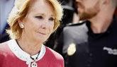 Esperanza Aguirre, a su salida de la Audiencia Nacional tras declarar...