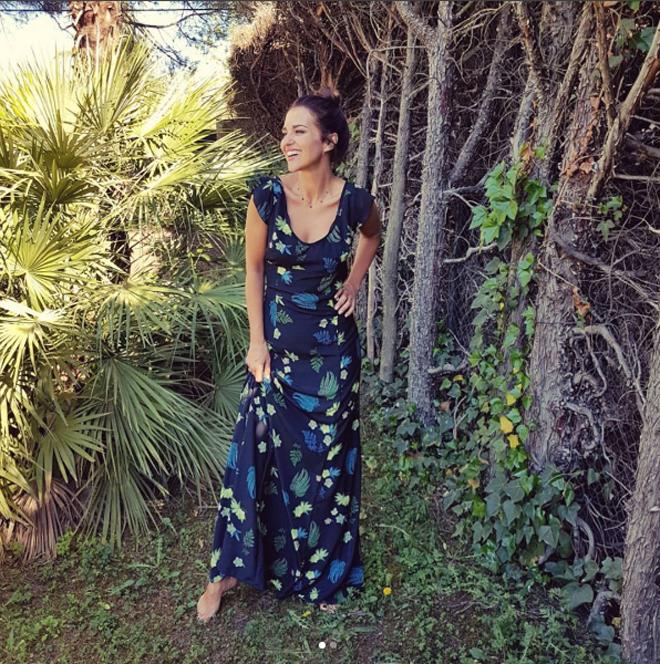 Vestido largo flores trucco