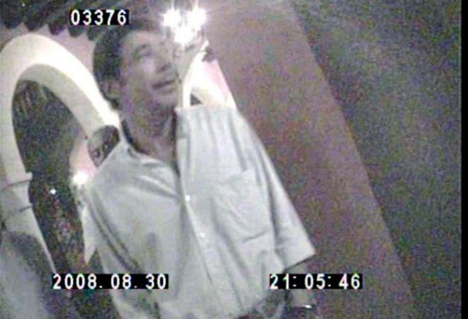Ignacio González, grabado por un detective, en su viaje a Colombia, el 30 de agosto de 2008.
