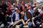 El candidato a la secretaría general del PSOE, Pedro Sánchez,...