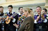 Cristina Cifuentes, el pasado jueves, en Alcalá de Henares durante...
