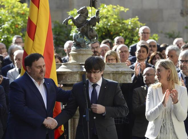 El gobierno de la Generalitat en pleno, el pasado viernes.