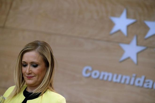 La presidenta de la Comunidad de Madrid, Cristina Cifuentes,