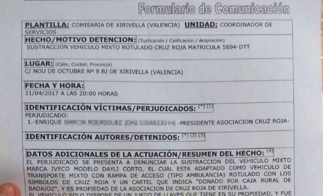 El robo de una ambulancia de Cruz Roja activa protocolos antiterroristas