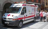 Una ambulancia de la Cruz Roja en Valladolid.