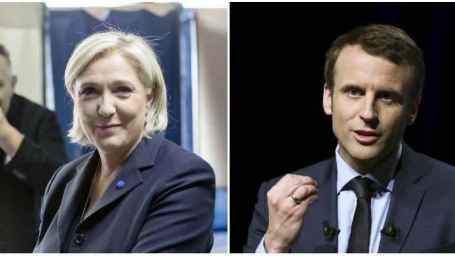 Sondeos: el centrista Macron y la ultraderechista Le Pen se disputarán la Presidencia en segunda vuelta