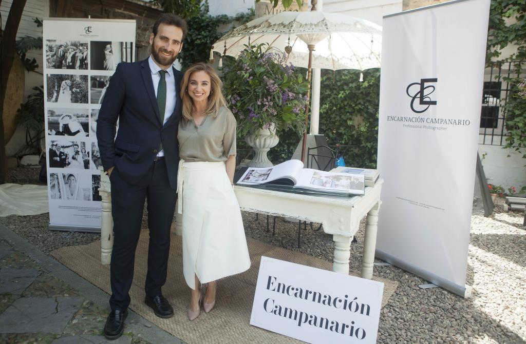 Los fotógrafos Encarnación Campanario y Javier Alda.