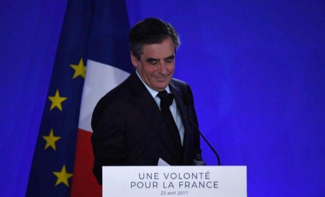 Fillon, ayer, durante su discurso tras conocer los resultados.