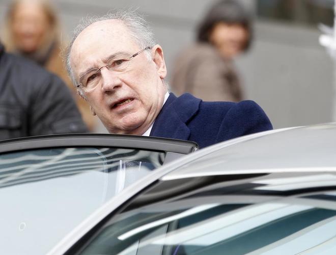 Rodrigo Rato, tras declarar en la Audiencia Nacional en el juicio por...