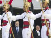Mariano Rajoy, ayer en Brasilia, en la primera jornada de su viaje a...