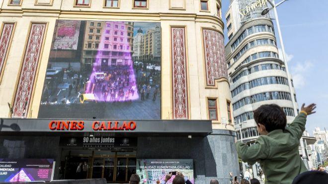La plaza de Callao, ahora con realidad aumentada