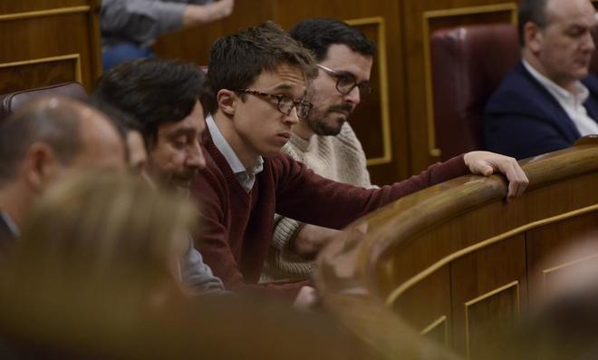 Íñigo Errejón, en el pleno celebrado la pasada semana en el...
