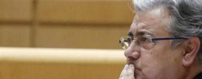 Juan Ignacio Zoido, este martes en el Senado.