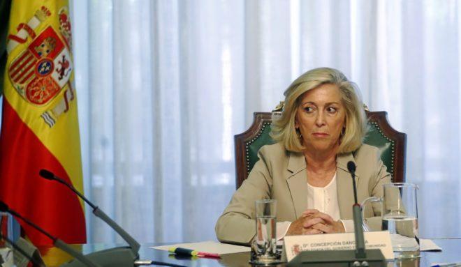La delegada del Gobierno en Madrid, Concepción Dancausa, en...