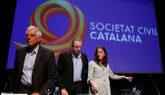 Josep Borrell, Juan Carlos Girauta y Andrea Levy, en la conferencia...