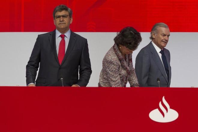 Ana Patricia Botín, presidenta del Ban Santander, en la Junta General de Accionistas.