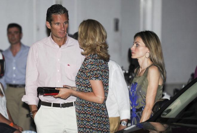 Los ex duques de Palma y la Reina Letizia, en una imagen de archivo.
