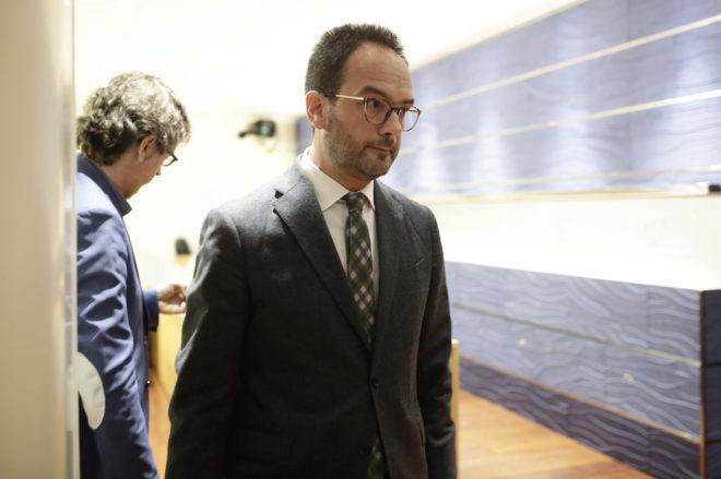 Antonio Hernando, tras su comparecencia de ayer en el Congreso de los Diputados