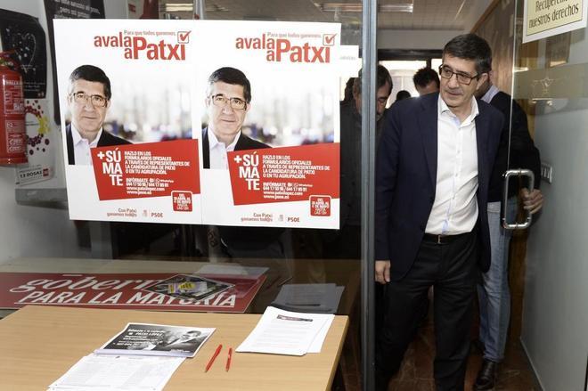 Patxi López, el pasado jueves en la sede del PSOE en Valladolid.