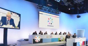Imagen de la Junta General de Accionistas de Mediaset celebrada este...
