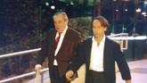 El empresario Adrián de la Joya (derecha), junto a su abogado, tras...