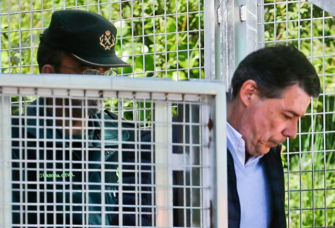 Ignacio Gonzalez en el traslado a la Audiencia Nacional para declarar.
