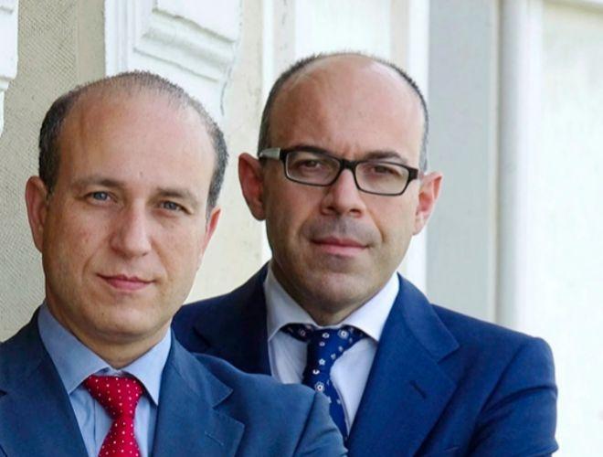 Los asesores.  Julio Senn (izquierda) y Francisco Javier Ferrero (derecha)