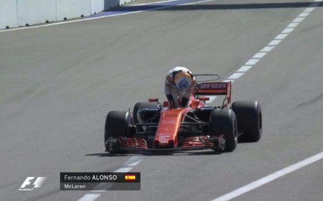 Alonso abandona el GP Rusia antes de comenzar: otra avería en el McLaren