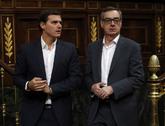 Albert Rivera y José Manuel Villegas en el Congreso de los Diputados.