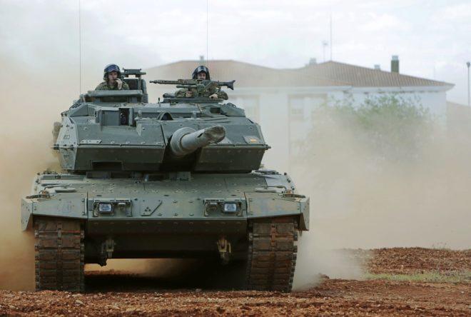 Uno de los 'leopardo' que se desplazará a Letonia.