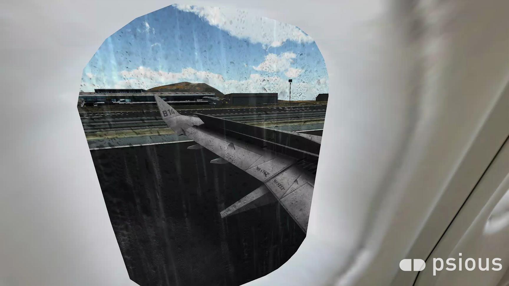 Recreación de un aterrizaje para aquellos que sufren miedo a volar.