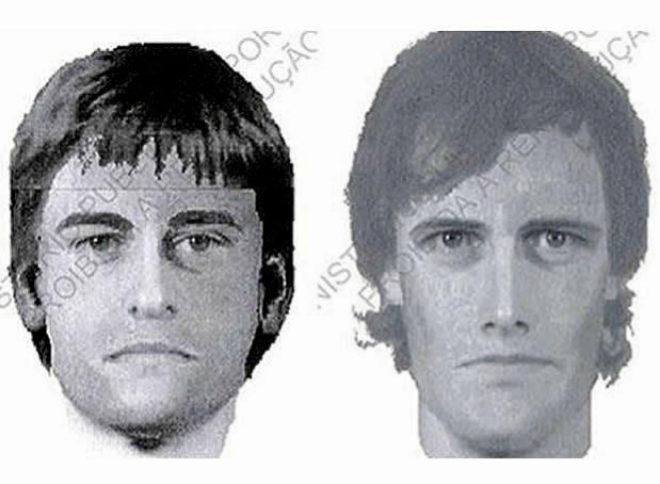 Retrato robot de dos posibles sospechosos de la desaparición.