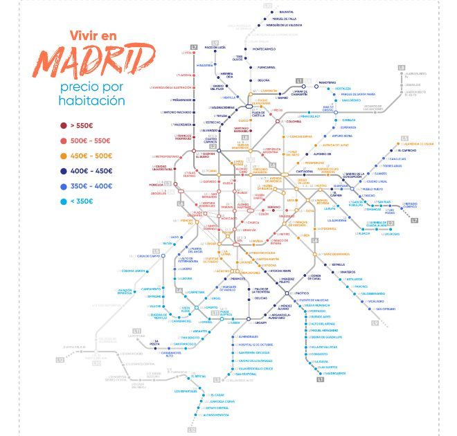 El precio medio del alquiler de una habitaci n en madrid y barcelona ya supera los 400 euros - Habitacion por dias madrid ...