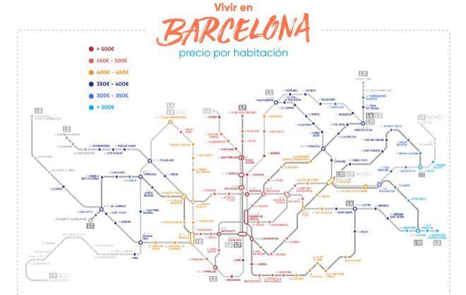 El precio medio del alquiler de una habitación en Madrid y