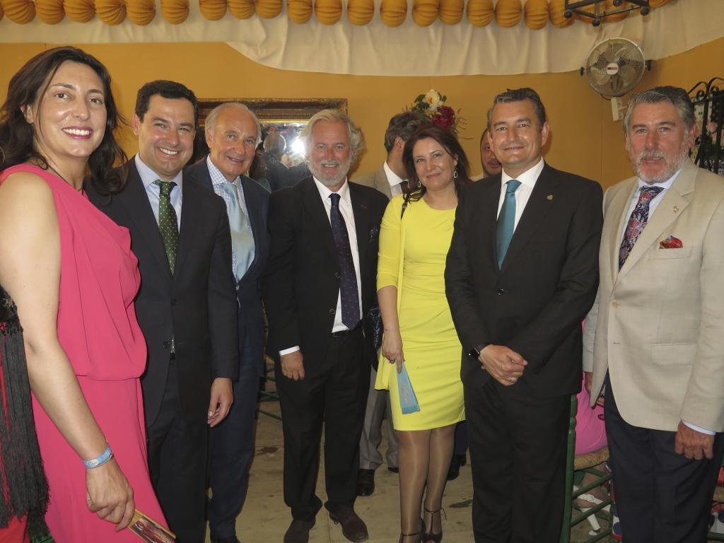 Loles López (secretaria gral PP Andalucía), Juan Manuel Moreno...