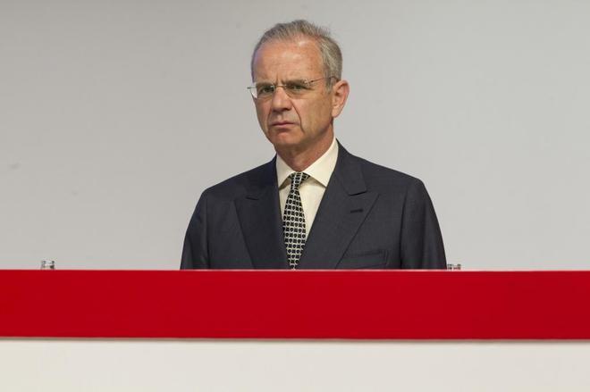 El consejero Ignacio Benjumea, en la última junta del Santander.