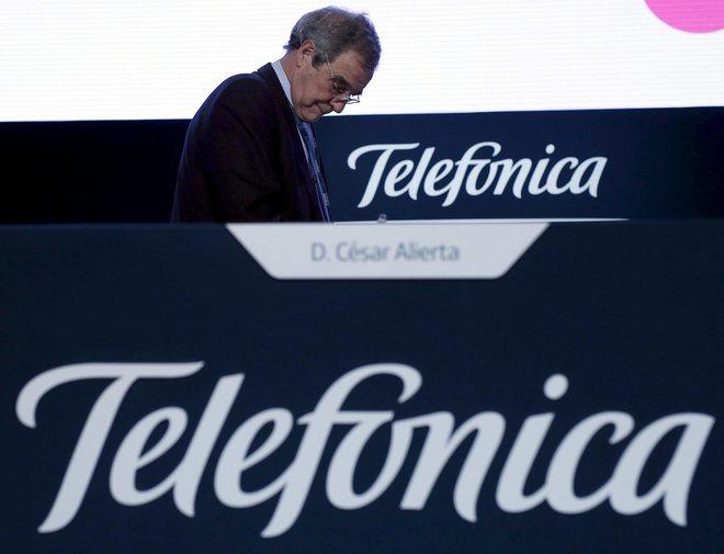 César Alierta durante la última junta de accionistas de Telefónica que presidió, en junio de 2015.