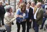 La precandidata en las primarias a la secretaría general del PSOE...