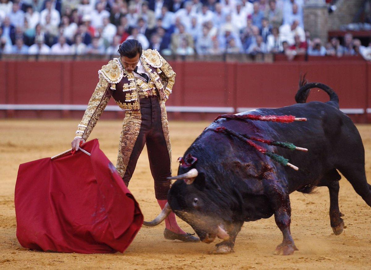 Derechazo de David Mora al toro de Cuvillo que cerró el festejo