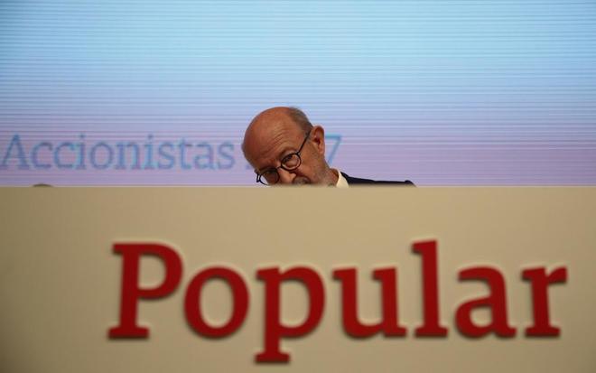emilio saracho presidente de banco popular reuters