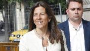 Anna Vidal Maragall, al declarar en la Audiencia de Barcelona, en...