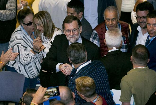 Mariano Rajoy, este viernes en el congreso del PP de Gran Canaria.