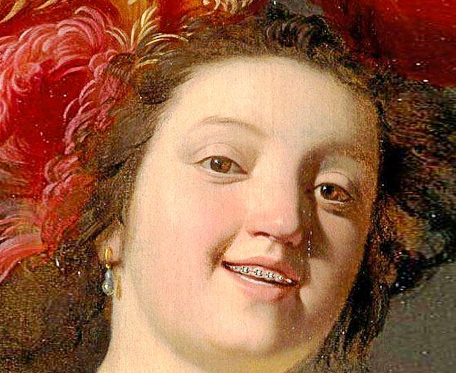 Detalle de 'La Violonista' (1626), obra del pintor Gerard...